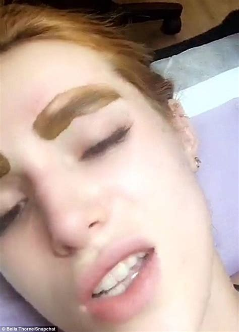 bella thorne just got her eyebrows tattooed amp documented