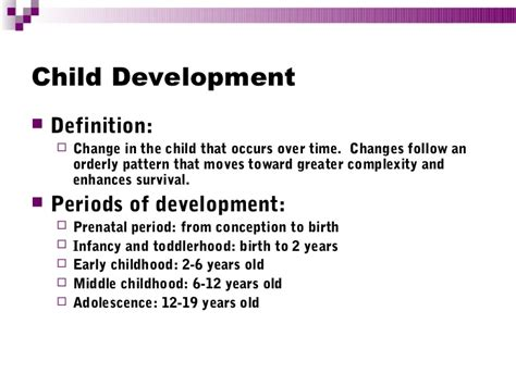 definition pattern of development child development