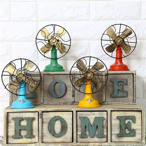 vintage shabby chic home decor 2019 shabby chic fan model vintage home decor resin crafts