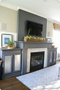 Electric Candle Wall Sconces 13 Planked Wall Finished Fireplace From Thrifty Decor