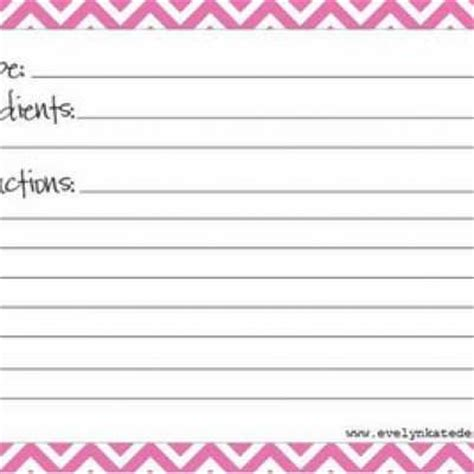 Blank Recipe Cards For Printer | printable recipe cards blank tip junkie