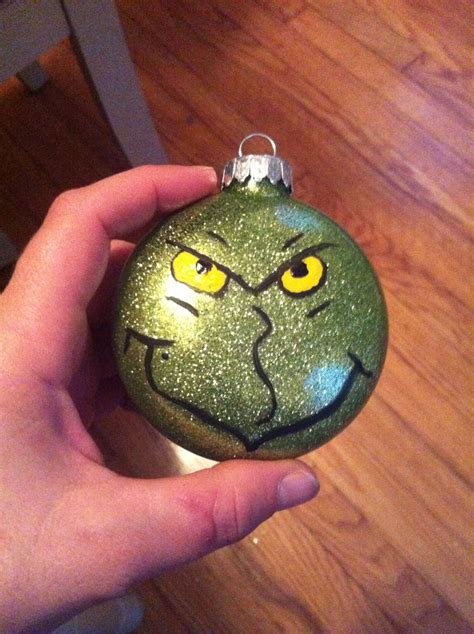 acrylic paint glass ornaments 17 best images about grinch day and grinch tree on