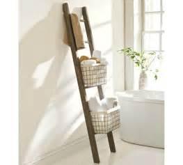 ladder for bathroom towels our hopeful home diy pottery barn bath storage ladder