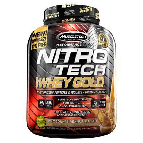 Whey Gold Standard 5 Lbs Optimum Nutrition Nitrotech Gold On Wgs muscletech nitro tech whey gold chocolate peanut butter