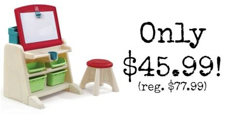 flip and doodle desk step2 flip and doodle desk with stool easel only 45 99
