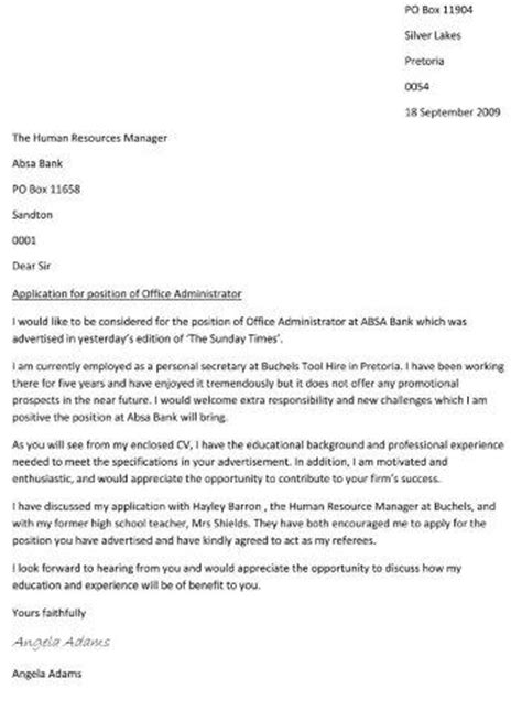 cover letter creative writing writing a cover letter