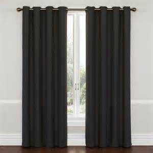 Black Out Curtains Eclipse Wyndham Grommet Energy Efficient Blackout Curtain Panel Walmart