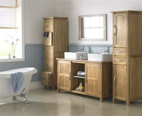 oak bathroom furniture featuring range of ohio solid oak bathroom furniture