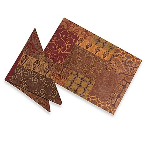bed bath and beyond valencia valencia placemat and napkin bed bath beyond