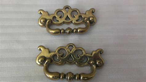 vintage dresser pulls canada drawer pulls handles gold made in canada set of two