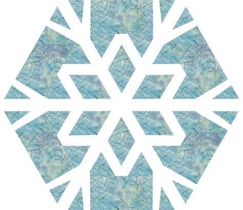 Snowflake Quilt by Snowflake 2 Quilt Block By 3patch Quilting Pattern