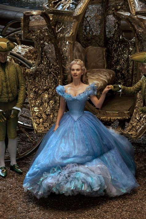 film cinderella dress lily james as cinderella magical costumes came to life