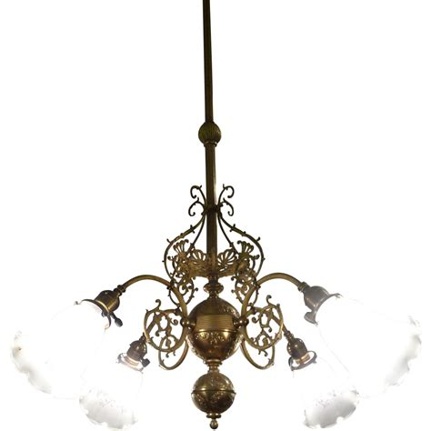 chandeliers brass pair brass chandeliers american c 1900 from