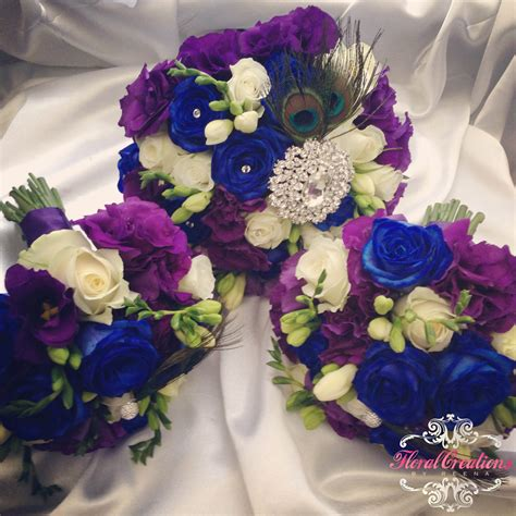 peacock theme bouquets and buttonholes floral creations by reena