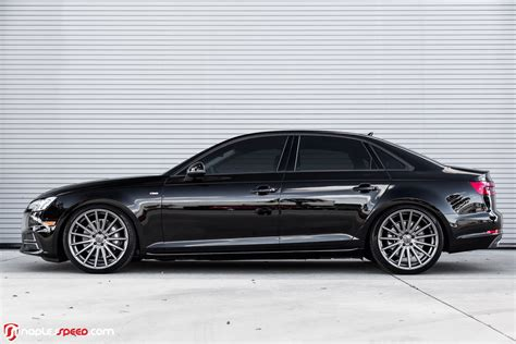 "2017 Audi A4 Hunkers Down On 20"" Custom Wheels carscoops.com"