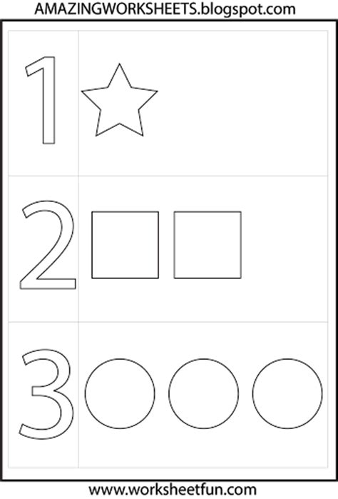 printable number shapes preschool numbers and shapes printable worksheets