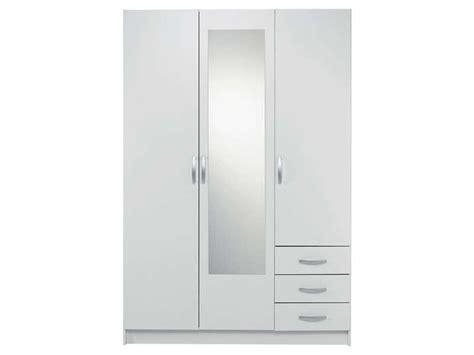 Armoire Conforama 3 Portes by Armoire 3 Portes 3 Tiroirs Spot Coloris Blanc Vente De