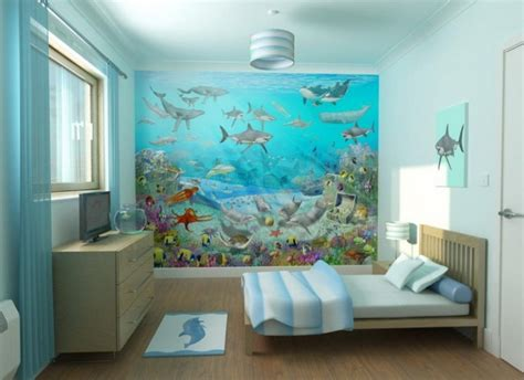 designing a wall mural wonderful kids bedroom interior design with ocean