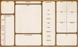 character tree template character sheet template by yenke on deviantart