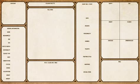 character template sheet character template mobawallpaper
