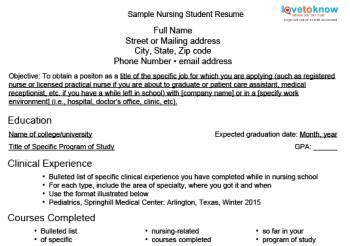 sle nursing student resume clinical experience nursing student resume lovetoknow