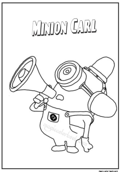 minion carl coloring page minion coloring pages for kids