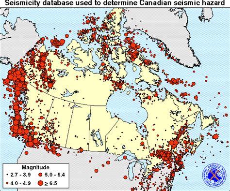 earthquake canada earthquake map vancouver