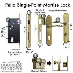 Pella Sliding Patio Door Locks How To Replace A Pella Single Point Mortise Lock With A Pz