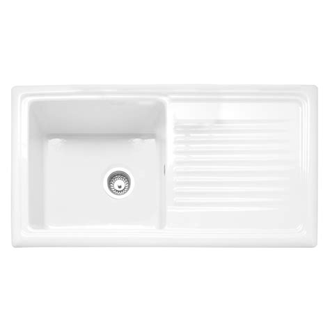 Inset Ceramic Kitchen Sinks Caple Wiltshire 100 Single Bowl Inset Ceramic Kitchen Sink Sinks Taps