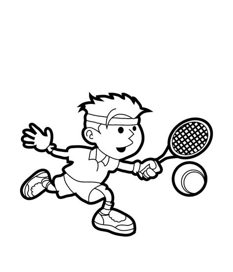 Tennis Coloring Pages For Childrens Printable For Free Tennis Coloring Pages