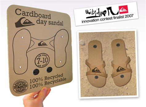flat pack craft collective cardboard day sandalquiksilver flat pack sandals design