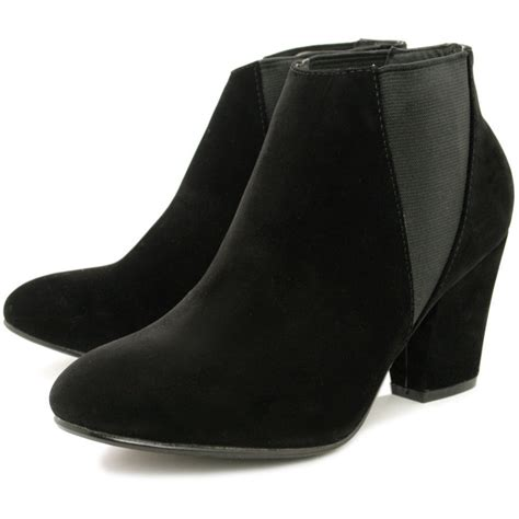 ankle boots with heels buy siena block heel chelsea ankle boots black suede style
