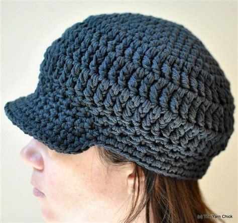 pattern crochet hat with brim pdf crochet pattern riley brimmed unisex cap hat cap