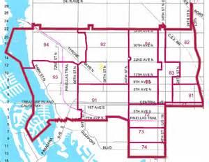 st petersburg fl department districts zones