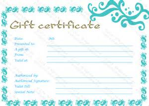 Gift Certificates Template Graceful Gift Certificate Template