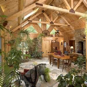 Great Room Plans - log home interiors eagles nest log homes