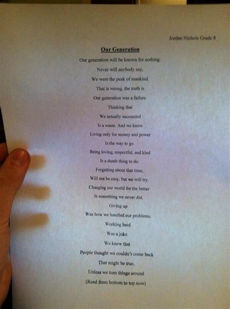 grade pupil writes incredibly wise poem sick chirpse