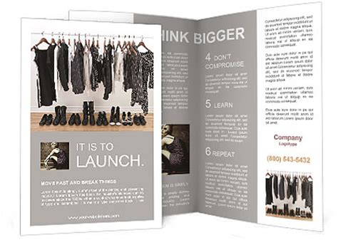 template brochure clothing clothes brochure template design id 0000008405