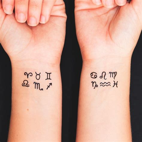 small zodiac tattoos small tattoos for and beautiful design ideas