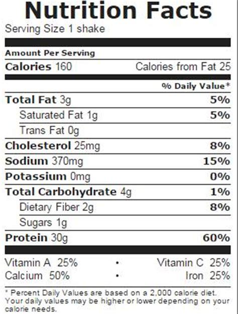 protein x nutrition fact premier protein shake vanilla nutrition facts 5