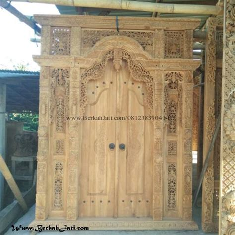 Kusen Pintu Model Gebyog Antik Jati Jepara harga pintu gebyok jati jawa berkah jati furniture
