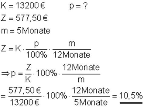 bank zinsen berechnen zinsrechnung mathe brinkmann