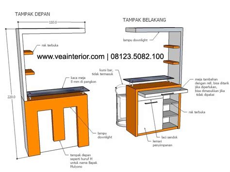 desain meja bartender kitchen set kitchen set minimalis kitchen set malang