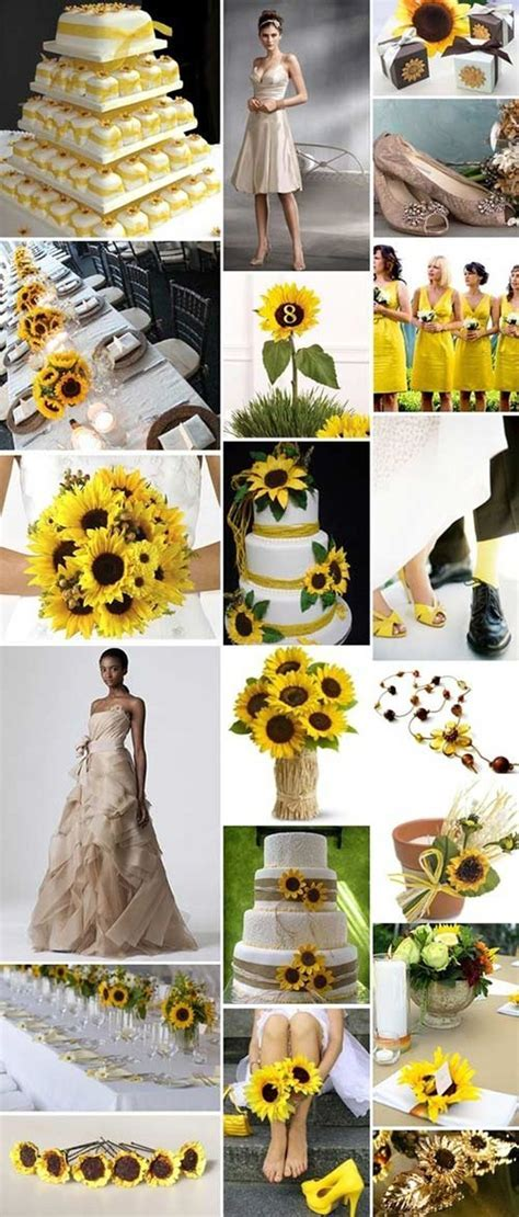 Sunflower Wedding Ideas   Weddinary.com   Gettin' Hitched