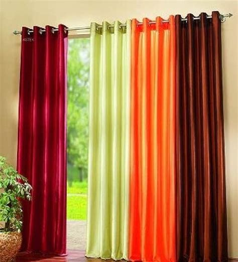 Orange Green Curtains Colorful Curtain For Living Room Available In Maroon Green And Orange Colors Color My World