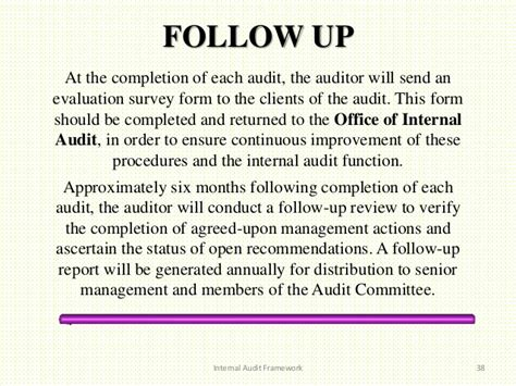 audit follow up template audit framework
