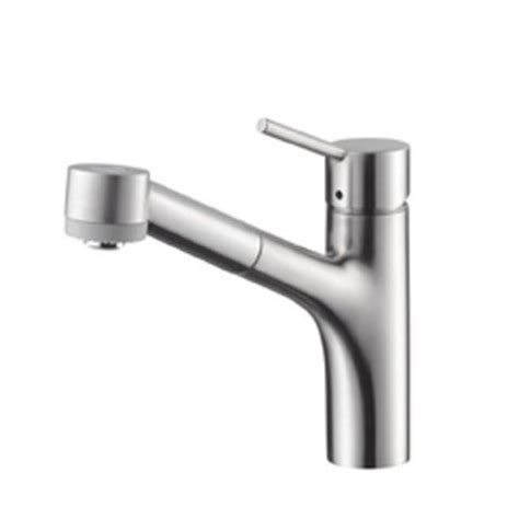 hansgrohe talis kitchen faucet hansgrohe 06462860 talis s single pull out kitchen faucet steel optik 6462860 focal