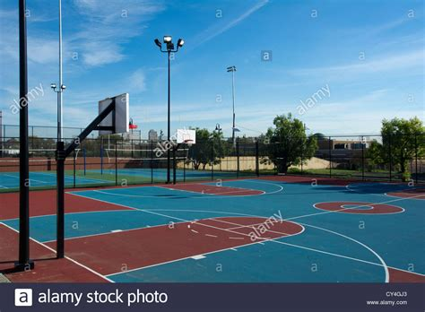 Nj Judiciary Search Free Basketball Courts In A Park In Newark New Jersey Stock Photo Royalty Free Image