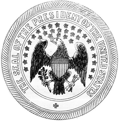 united states seal coloring page presidential seal coloring page coloring home