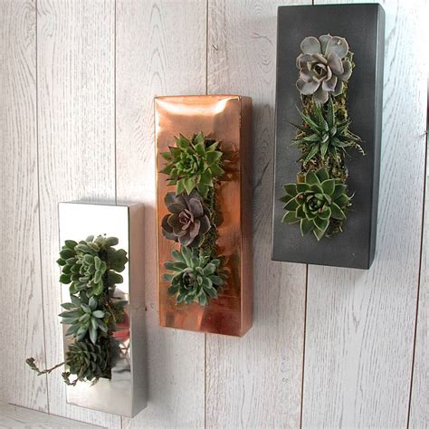 Planter Wall by Copper Wall Planter By Garden Trading